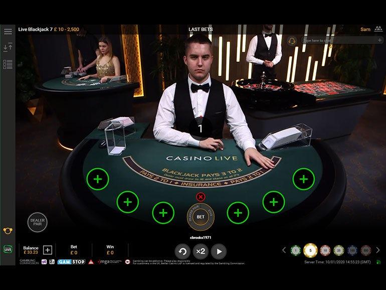Live Betfair Blackjack 7 Casino Game 99 46 Rtp Betfair Casino