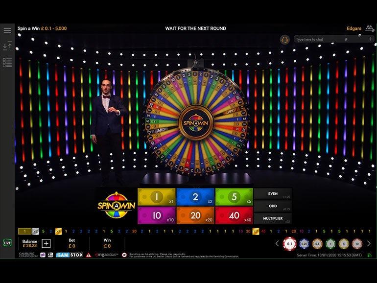 Spin A Win Live Casino Game 90 67 97 22 Rtp Betfair Casino
